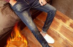 修身牛仔裤男时尚显瘦图片