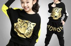 女童韩国春装运动套装图片