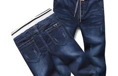 男裤牛仔裤松紧图片