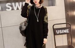 韩版女士长款卫衣打底衫图片