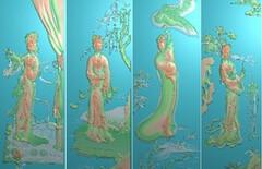四大美人精雕图图片