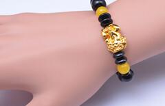 玛瑙石榴石手链情侣水晶图片