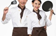 厨师工作服女长袖图片