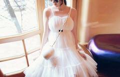 度假雪纺连衣裙中裙图片