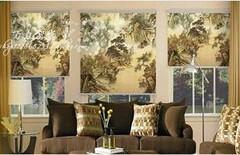 窗帘画中国风图片