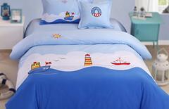 男童卡通床上用品四件套图片