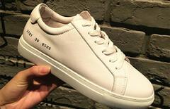 刘雯同款小白鞋真皮图片