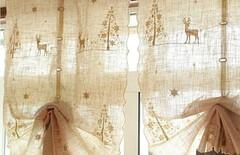 儿童窗帘刺绣图片