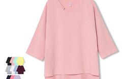 蝙蝠衫t恤女7分袖上衣图片