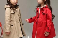 风衣大衣女童外贸图片