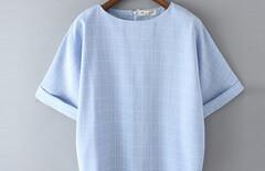2016夏装女上衣棉麻图片