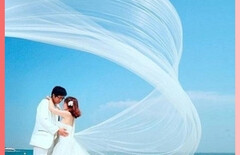 新娘结婚拖尾白纱图片