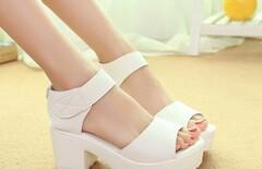 粗跟坡跟鞋中跟厚底松糕女鞋图片