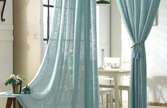 窗帘纱帘飘窗图片