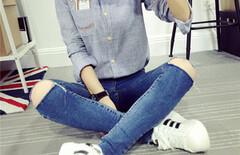 条纹衬衫女长袖打底衫图片