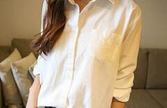 亚麻衬衫女款图片