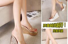 透明拖鞋女夏一字型图片