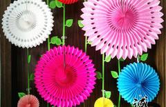 装饰纸扇花图片
