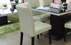 现代餐椅白色实木椅子图片