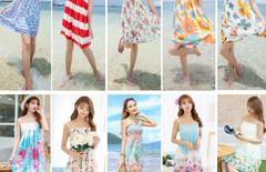 夏季海边度假裙吊带连衣裙图片