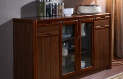 餐边柜储物柜实木茶水柜图片