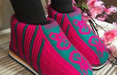 棉拖鞋女棉靴图片