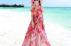 海边度假连衣裙显瘦女图片