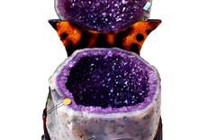 水晶洞聚宝盆风水图片
