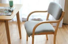 靠背实木椅子白色图片