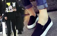 乐福鞋一脚蹬懒人鞋学生鞋图片