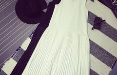 打底百褶无袖针织吊带裙图片