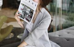 修身小西装长袖韩版棉麻女图片