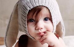 儿童宝宝兔子耳朵帽子图片