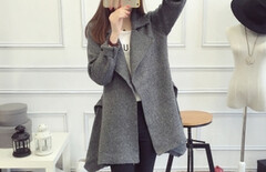 裙摆式毛衣外套图片