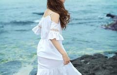 女童海边度假沙滩裙图片
