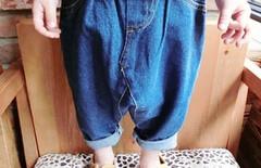 女童夏装牛仔七分裤图片