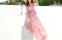 夏季沙滩度假连衣裙图片