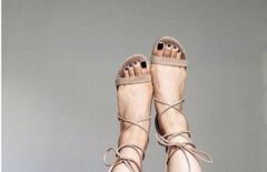 罗马系带鞋图片