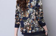 刺绣花朵夹克外套女图片