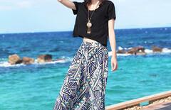 沙滩裙海边度假文艺图片