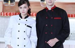 厨师工衣秋装工服图片