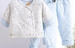 刚初生宝宝棉服图片