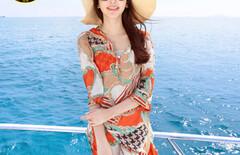 度假沙滩雪纺连衣裙图片