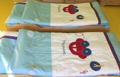卡通床上用品床单三件套图片
